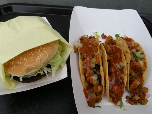 Veggie Burger, Soy Chorizo Tacos