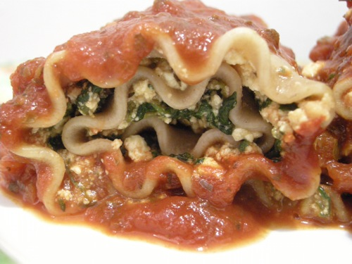 vegan lasagna roll