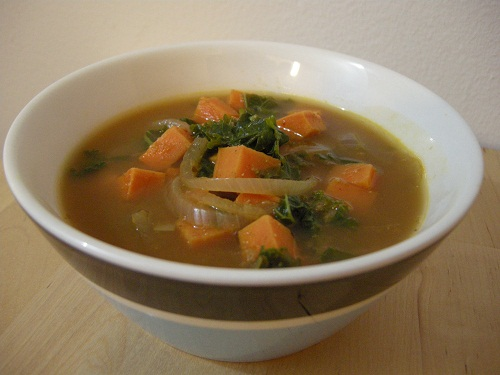 african kale &amp; yam soup