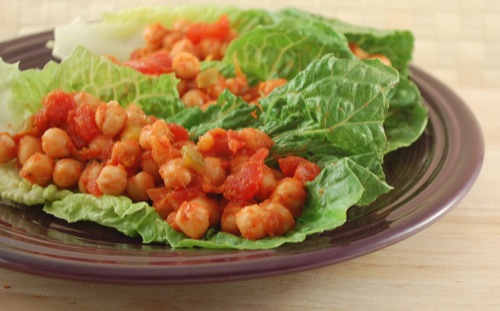 photo of Salsa Chickpea Lettuce Wraps