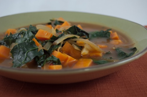 Picture of African Kale &amp; Yam Soup