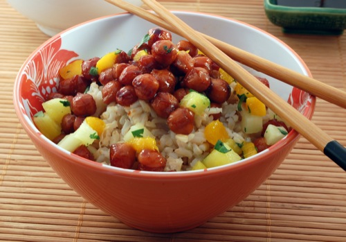 photo of Hawaiian BBQ: Teriyaki Chickpeas