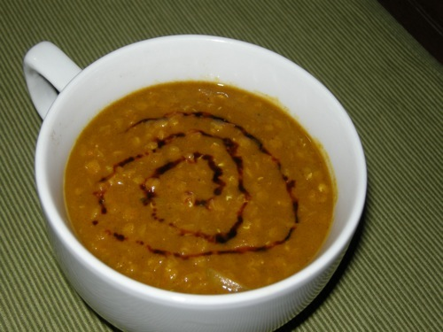 photo of Curried Pumpkin Lentil Soup