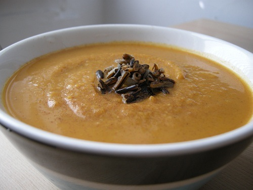 photo of Curried Sweet Potato & Wild Rice Soup