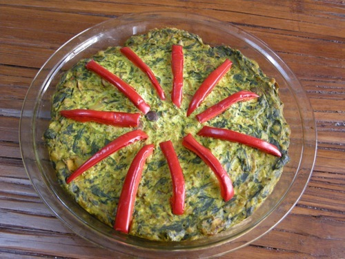 photo of Spinach &amp; Mushroom Quiche