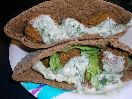 vegan yam falafels
