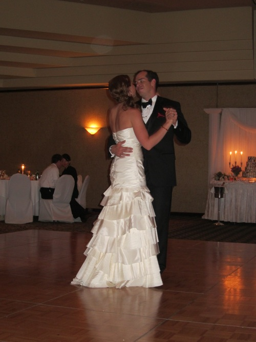 Ross' first dance with his new wife