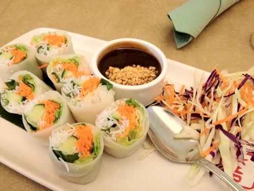 vegan sushi basil rolls