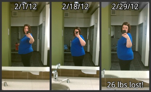 collage of 3 images showing same woman wearing same clothes at 3 different stages in her weight lose