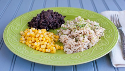 Cilantro Lime Rice & Refried Black Beans