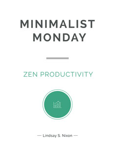 Minimalist Monday: Productivity Cover