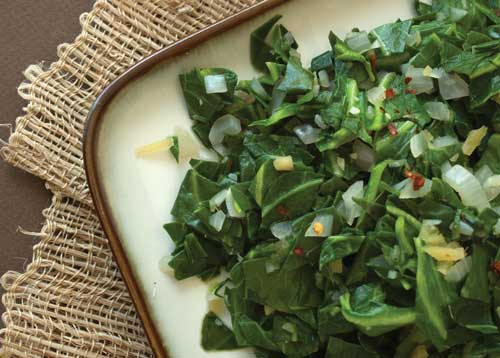 photo of Gingered Collard Greens